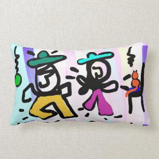 Dans för popkonstmålning! lumbarkudde