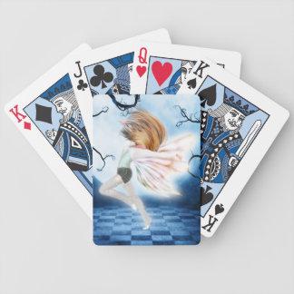 Dans som leker kort spelkort