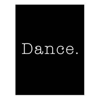 Dans. Svartvit danscitationsteckenmall Vykort