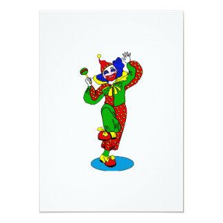 Dansa clownen med bebispladder 12,7 x 17,8 cm inbjudningskort