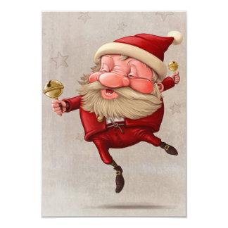 Dansa för jultomtenjulklockor 8,9 x 12,7 cm inbjudningskort
