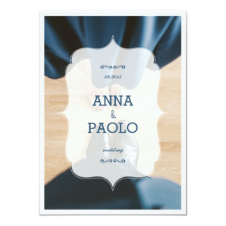 Dansa i blåtten 11,4 x 15,9 cm inbjudningskort