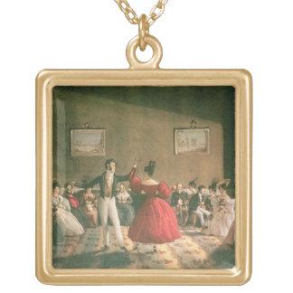 Dansa i en salong i Buenos Aires, c.1831 (w/c på p Guldpläterat Halsband