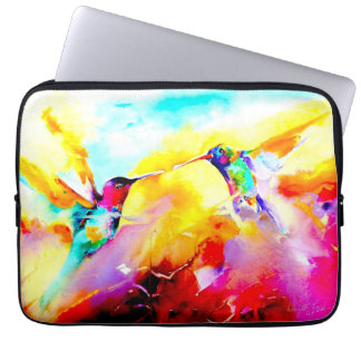 """""""Dansa i färg"""" Hummingbirdtryck Laptop Fodral"""