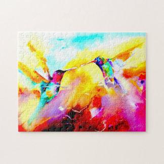 """""""Dansa i färg"""" Hummingbirdtryck Pussel"""