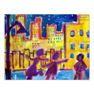 Dansa i gatan vid Piliero 10,8 X 14 Cm Inbjudningskort