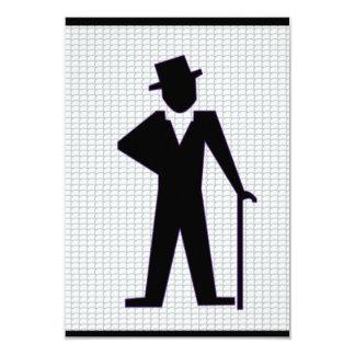 Dansa manen 8,9 x 12,7 cm inbjudningskort