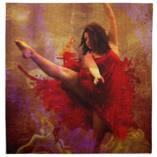 Dansa mer, flickan i röda tygservett