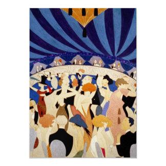 Dansa parpartyinbjudan 12,7 x 17,8 cm inbjudningskort