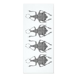 dansa sänker skalbaggar kortet 10,2 x 23,5 cm inbjudningskort