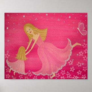 Dansa vid skymning - mordottern lurar konst posters
