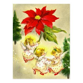 Dansa vykortet för babyänglarvintage vykort