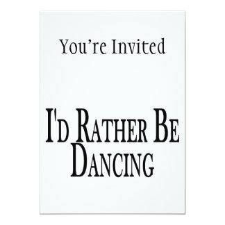 Dansar ganska 12,7 x 17,8 cm inbjudningskort