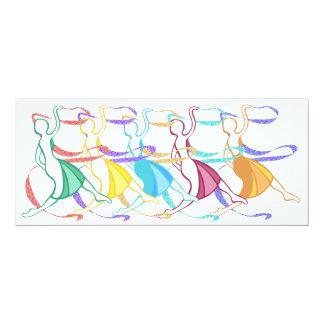 Dansare 10,2 X 23,5 Cm Inbjudningskort