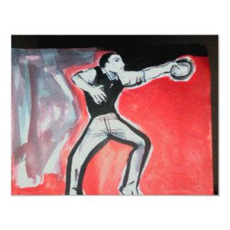 dansare 10,8 x 14 cm inbjudningskort
