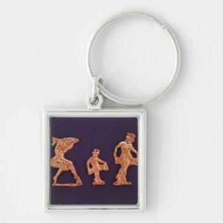 Dansare av gudinnademeteren fyrkantig silverfärgad nyckelring