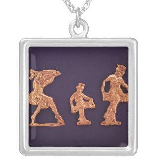 Dansare av gudinnademeteren silverpläterat halsband