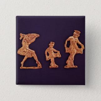 Dansare av gudinnademeteren standard kanpp fyrkantig 5.1 cm