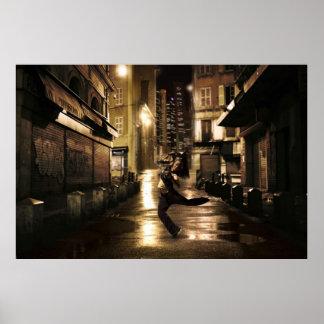 Dansare i stads- gataaffisch poster