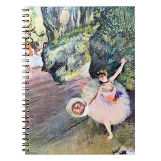 Dansare med en bukett av blommor av Edgar Degas Anteckningsbok