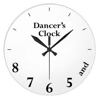 Dansare tar tid på väggklocka