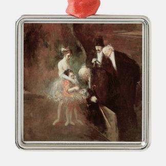 Dansarna, c.1925 (olja på kanfas) julgransprydnad metall