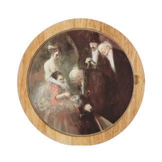 Dansarna, c.1925 (olja på kanfas) rektangulär ostfat