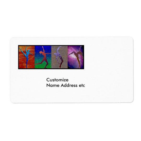 DansAvery etikett Fraktsedel