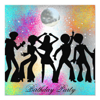 Dansdiskofödelsedagsfest inbjudan inbjudningskort