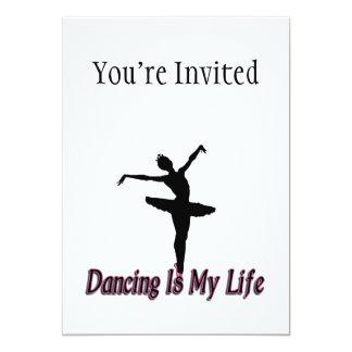 Dansen är mitt liv 12,7 x 17,8 cm inbjudningskort