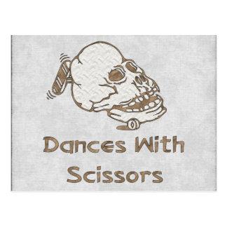 Danser med sax vykort