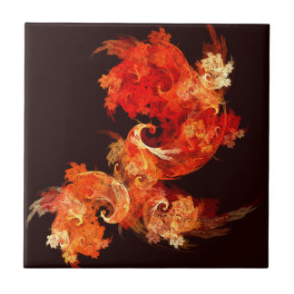 DansFirebirds belägger med tegel abstrakt konst Kakelplatta