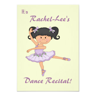 DansHögläsning-Ballerina 12,7 X 17,8 Cm Inbjudningskort