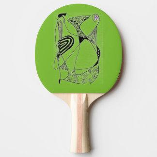 """""""Danshöna - den grönt"""" abstraktpingen Pong paddlar Pingisracket"""