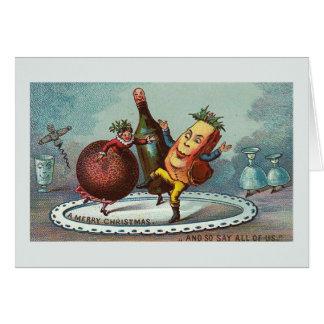 """""""Dansjulmat!"""", Vintagekort Hälsningskort"""