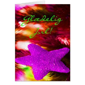 Danska Glædelig Jul Godt Nytår purpurfärgad stjär