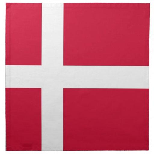 Danskaflagga på den MoJo servetten Näsdukar