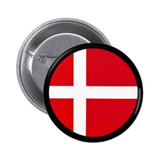 Danskaflagga Standard Knapp Rund 5.7 Cm