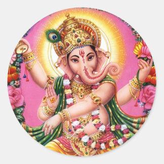 DansLord Ganesha Runt Klistermärke