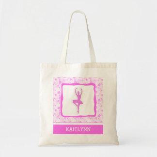 Danssöt i rosa blom- toto budget tygkasse