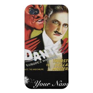 Dante ~-Europa magi för vintage för trollkarl iPhone 4 Hud