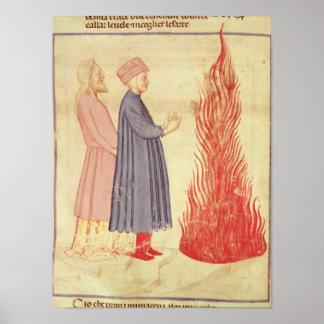 Dante och Virgil känner igen Ulysees Poster