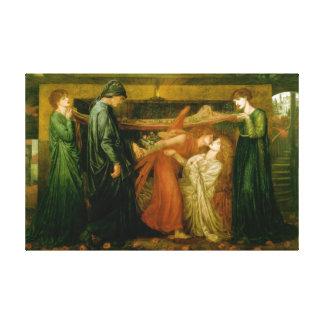 Dantes dröm av Gabriel Dante Rossetti Canvastryck