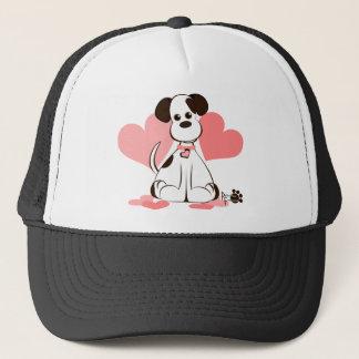 Daphne den adoptiv- hunden truckerkeps