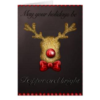 Dapper jul hälsningskort