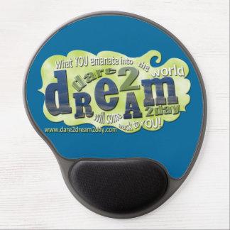 Dare2Dream2Day-Gel Mousepad Gelé Musmattor