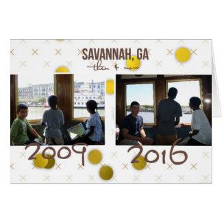 Därefter och nu - Savannahfärjan, GA noterar OBS Kort