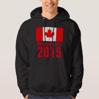 Därför att det är den KANADA T-tröja 2015 Sweatshirt Med Luva