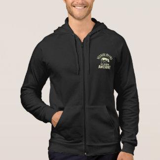 Därför att flodhästar flipper ur fantastisk sweatshirt med luva