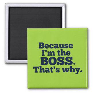 Därför att I-förmiddagen chefen, det är varför Magnet